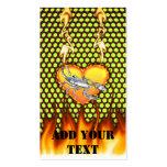 Diseño cromado 1 del escorpión con el fuego tarjetas de visita
