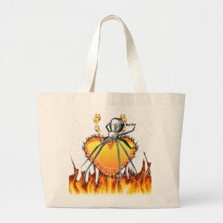 Diseño cromado 2 de la viuda negra bolsa