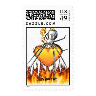 Diseño cromado 2 de la viuda negra sello