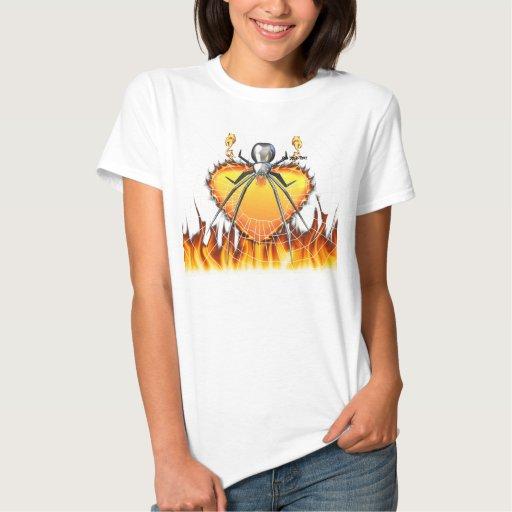 Diseño cromado 3 de la viuda negra camisetas