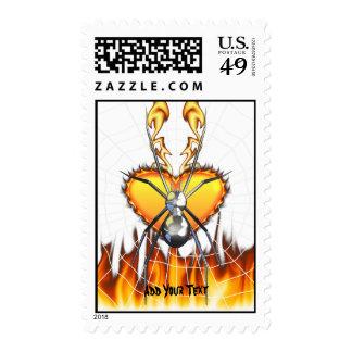 Diseño cromado 4 de la viuda negra sellos