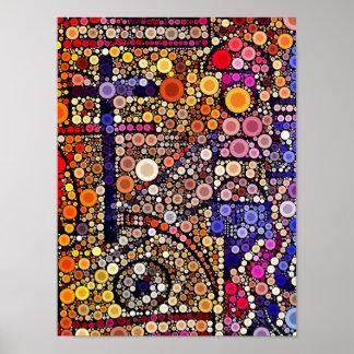 Diseño cruzado al sudoeste del mosaico colorido de póster