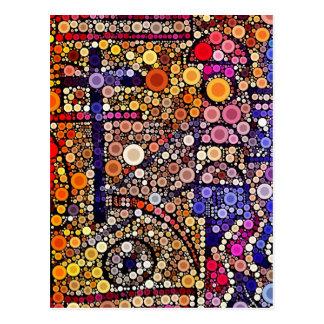 Diseño cruzado al sudoeste del mosaico colorido de tarjetas postales
