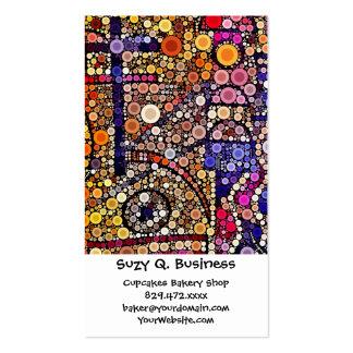 Diseño cruzado al sudoeste del mosaico colorido de tarjetas de visita