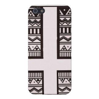 diseño cruzado azteca invertido iPhone 5 fundas
