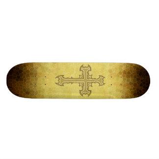 Diseño cruzado clavado espina patines personalizados