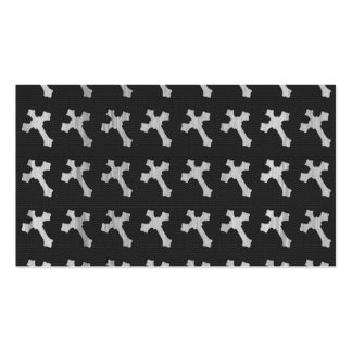 Diseño cruzado de madera blanco y negro tarjetas de visita