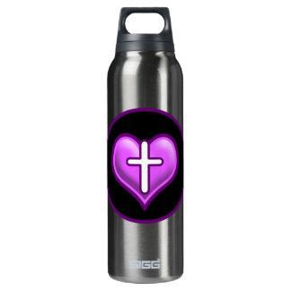 Diseño cruzado del logotipo de los corazones