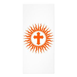 Diseño cruzado espiritual tarjetas publicitarias personalizadas