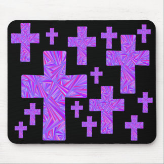 Diseño cruzado púrpura MousePad del collage del Alfombrilla De Raton