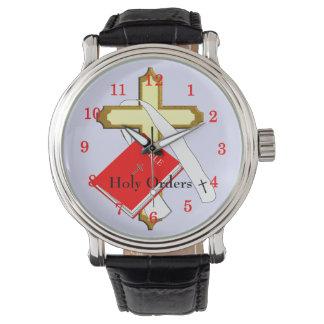 Diseño cruzado santo de la biblia religiosa de las reloj de mano