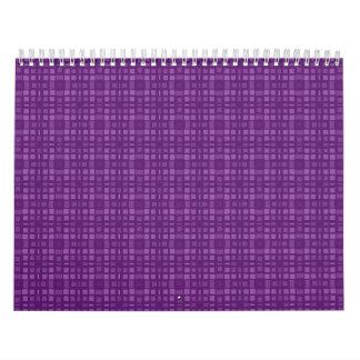 Diseño cuadrado púrpura del modelo de DIY su propi Calendario