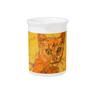diseño curioso del gato jarras para bebida