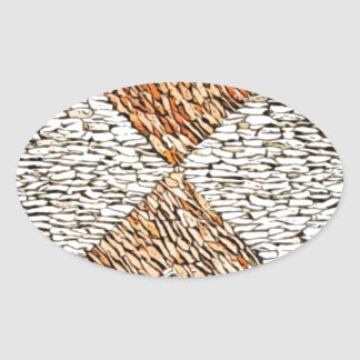 Diseño de 1000 piedras pegatina de oval personalizadas