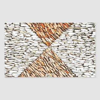 Diseño de 1000 piedras rectangular pegatinas