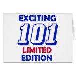 Diseño de 101 cumpleaños tarjeta de felicitación