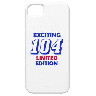 Diseño de 104 cumpleaños iPhone 5 carcasas