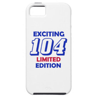 Diseño de 104 cumpleaños iPhone 5 fundas