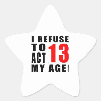 diseño de 13 cumpleaños colcomanias forma de estrellas