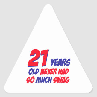 diseño de 21 cumpleaños pegatina triangular