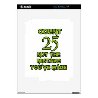 diseño de 25 cumpleaños calcomanías para iPad 2