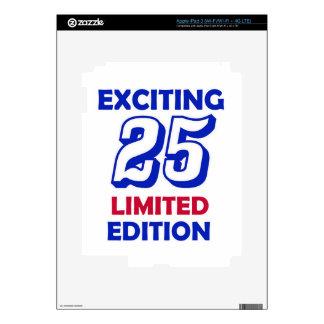 diseño de 25 cumpleaños iPad 3 pegatinas skins