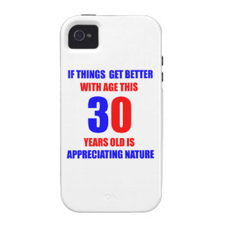 Diseño de 30 cumpleaños iPhone 4/4S fundas
