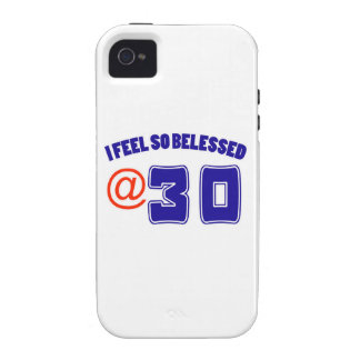 Diseño de 30 cumpleaños Case-Mate iPhone 4 carcasa