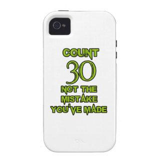 diseño de 30 cumpleaños Case-Mate iPhone 4 carcasas