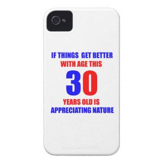 Diseño de 30 cumpleaños iPhone 4 protectores