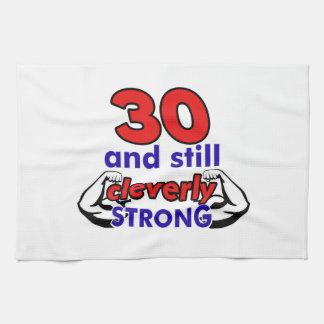Diseño de 30 cumpleaños toalla