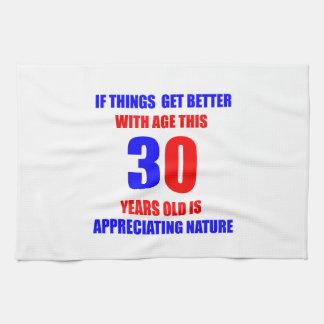 Diseño de 30 cumpleaños toallas