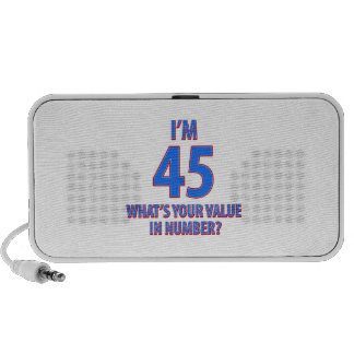 diseño de 45 cumpleaños iPhone altavoz