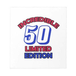 Diseño de 50 cumpleaños blocs