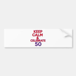 diseño de 50 cumpleaños pegatina para auto