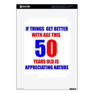 Diseño de 50 cumpleaños pegatinas skins para iPad 3