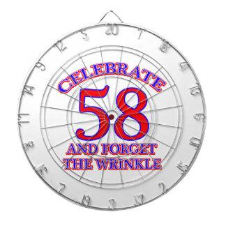 Diseño de 58 cumpleaños