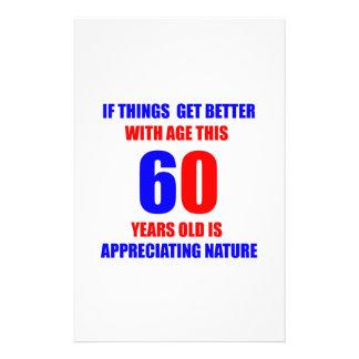 diseño de 60 cumpleaños papelería personalizada