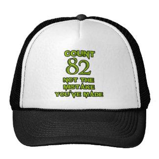 Diseño de 82 cumpleaños gorros
