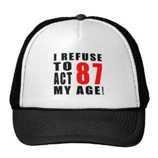 diseño de 87 cumpleaños gorras de camionero