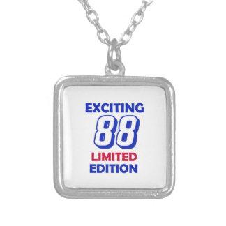 Diseño de 88 cumpleaños colgante cuadrado