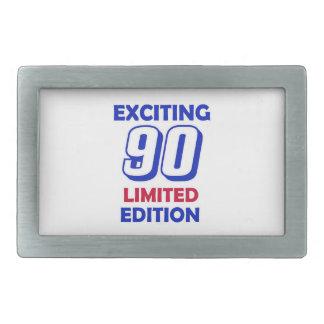 Diseño de 90 cumpleaños hebillas de cinturón rectangulares