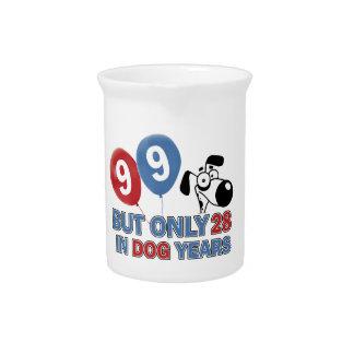 diseño de 99 cumpleaños jarras para bebida