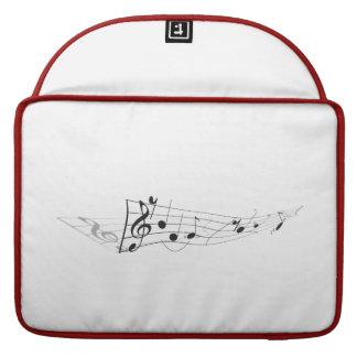 Diseño de A que tuerce la partitura musical Fundas Macbook Pro