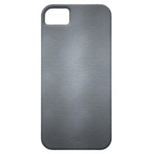 Diseño de acero cepillado iPhone 5 Case-Mate protectores