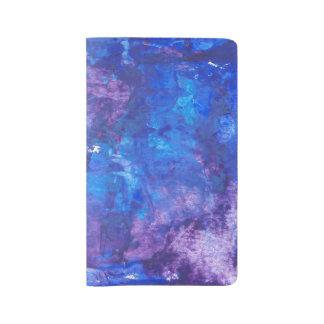Diseño de acrílico abstracto - pensamientos azules funda para libreta y libreta grande moleskine