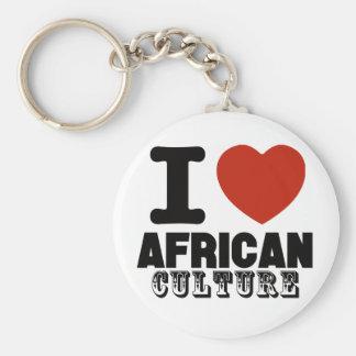 Diseño de África Llavero Redondo Tipo Pin