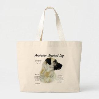 Diseño de Anatolia de la historia del perro de pas Bolsa Tela Grande