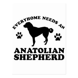 Diseño de Anatolia del vector del perro de pastor Tarjetas Postales