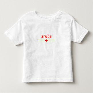 Diseño de Aruba de los niños con los elementos de Camisas